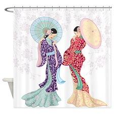 Geisha Shower Curtains | Geisha Fabric Shower Curtain Liner