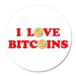 Bitcoins-4 Round Car Magnet