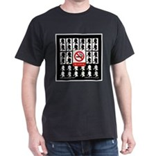 No Smoking Black T-Shirt