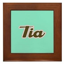 Tia Aqua Framed Tile
