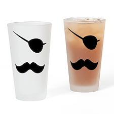 Pirate Mustache Drinking Glass