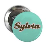 "Sylvia Aqua 2.25"" Button (10 pack)"