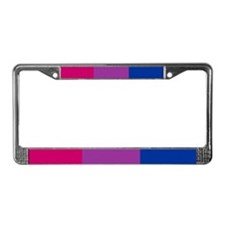 License Plate Frame - Bisexual Pride