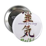 "Reiki Healing hands chinese letters 2.25"" Button"