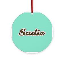Sadie Aqua Ornament (Round)