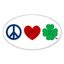 Peace Love Shamrock Decal