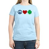 Peace Love Shamrock T-Shirt