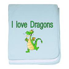 I Love Dragons baby blanket