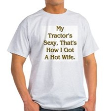 Sexy Tractor Hot Wife Ash Grey T-Shirt