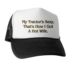 Sexy Tractor Hot Wife Trucker Hat