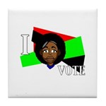 I vote (red, black & green) Tile Coaster