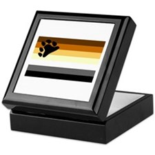 Bear Paw Flag Keepsake Box