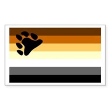 Bear Paw Flag Rectangle Decal