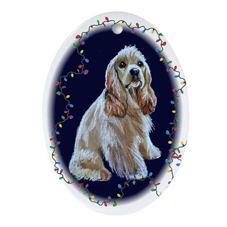 Cocker Spaniel Christmas Oval Ornament