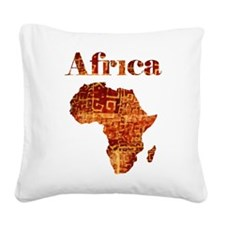 Ethnic Africa Square Canvas Pillow