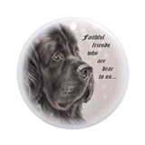"Newfoundland ""Faithful Friends"" Ornament (Round)"