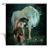 Fairy and Unicorn Magic Shower Curtain