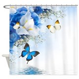 Flowers and Butterflies Shower Curtain