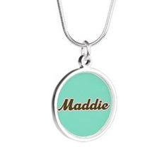 Maddie Aqua Silver Round Necklace