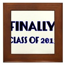 Finally-Class of 2013 Blue Framed Tile