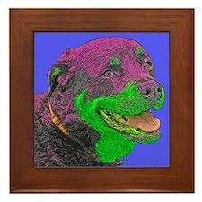 Retro Rottweiler Framed Tile