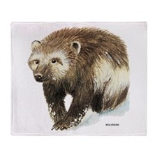 Wolverine Animal Throw Blanket