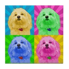 Pop Art Havanese Tile Coaster
