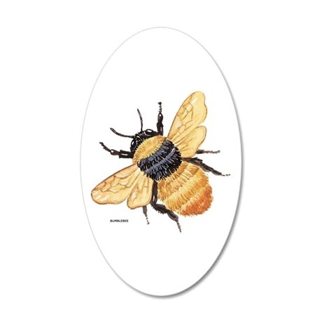 Bumblebee Insect 20x12 Oval Wall Decal