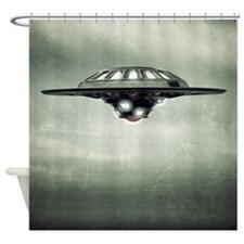 UFO Grunge Shower Curtain