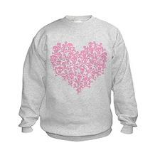 Pink Skull Heart Sweatshirt