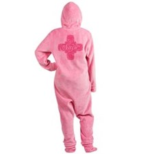 Pink Nurse Lacy Cross Footed Pajamas