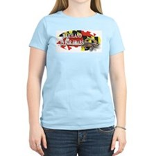 MARYLAND BLUE CRAB Women's Pink T-Shirt
