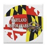 MARYLAND BLUE CRAB Tile Coaster