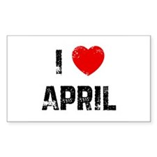 I * April Rectangle Decal