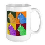 Warhol-esque Cat Coffee Mug