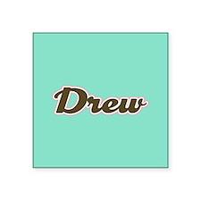 Drew Aqua Sticker