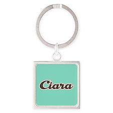 Ciara Aqua Square Keychain