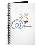 Mustache snail personalized Journal