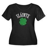 SLAINTE Women's Plus Size Scoop Neck Dark T-Shirt