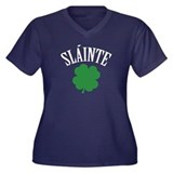 SLAINTE Women's Plus Size V-Neck Dark T-Shirt