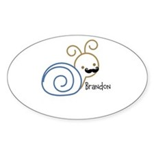 Mustache snail personalized Decal
