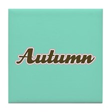 Autumn Aqua Tile Coaster