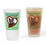 Poppy Unconditional Love - Green Drinking Glass