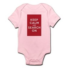Keep Calm and Search On (Basic) Infant Bodysuit