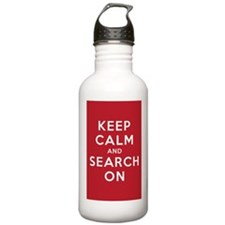 Keep Calm and Search On (Basic) Water Bottle