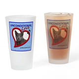 Poppy Unconditional Love - Blue Drinking Glass