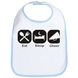 Eat, Sleep, Cheer Bib