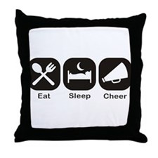Eat, Sleep, Cheer Throw Pillow