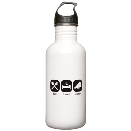 Eat, Sleep, Cheer Water Bottle