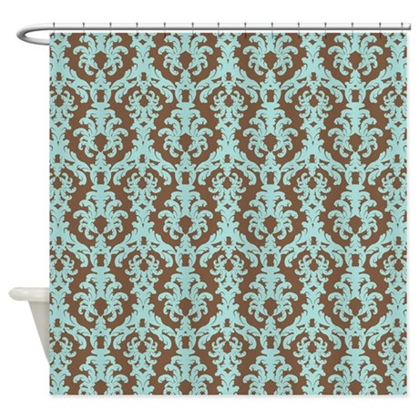Brown And Teal Shower Curtain Teal Shower Curtain